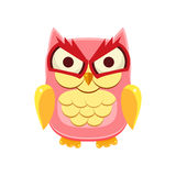 Pink Owl Holding the Laughter Stock Images