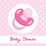 Pink Pacifier Design Royalty Free Stock Photography