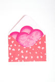 Pink packet with gift for Valentine's. Day Royalty Free Stock Photos