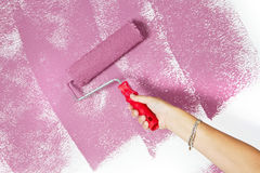 Pink paint Royalty Free Stock Images