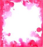 Pink paint grunge frame Royalty Free Stock Photo