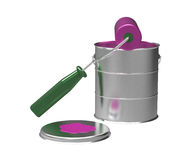 Paint can and roller Royalty Free Stock Photos