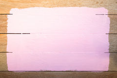 Pink paint space  on wood background Stock Photos