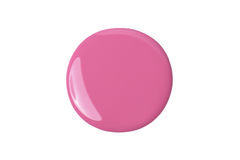 Pink paint on white. Pink paint, a sample of cosmetics nail polish isolated on a white background Royalty Free Stock Photography