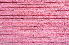 Pink painted brick wall Royalty Free Stock Photography