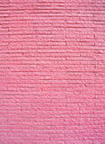 Pink painted brick wall Stock Photos