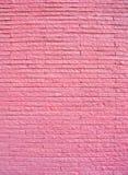 Pink painted brick wall Stock Photos