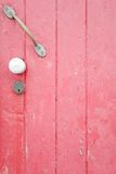 Pink painted door Stock Photography