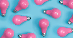 Pink painted lightbulbs Stock Image
