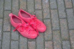 Pink painted shoes Royalty Free Stock Image