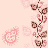 Pink paisley background Royalty Free Stock Photo