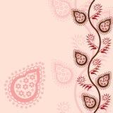 Pink paisley background Royalty Free Stock Photo