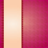 Pink paisley banner Royalty Free Stock Photos