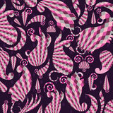 Pink Paisley elements Royalty Free Stock Photos