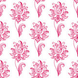 Pink paisley floral seamless pattern Royalty Free Stock Image