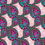 Pink paisley ornate seamless pattern. Seamless vector pattern can be used for wallpaper, pattern fills, textile, fabric, wrapping, Royalty Free Stock Images