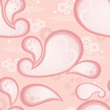 Pink Paisley Repeating Pattern royalty free stock images