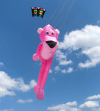 Pink panther kite. At the 3rd international kite festival in Twenterand, Netherlands with a lot of participants from Germany and Belgium Royalty Free Stock Images