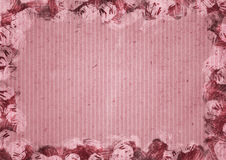 Pink paper background in watercolour frame Royalty Free Stock Images
