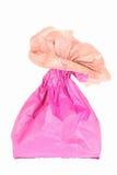 Pink paper bag Stock Photos