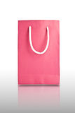 Pink paper bag Stock Photos
