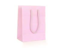 Pink paper bag Royalty Free Stock Photos
