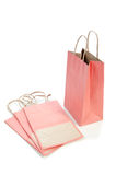 Pink Paper bag Stock Photography