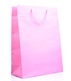 Pink paper bag Royalty Free Stock Photography