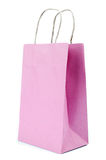 Pink Paper bag on white background Royalty Free Stock Images