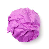 Pink paper ball Stock Photos