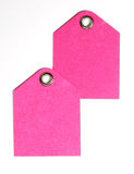 Pink Paper Blank Tags Stock Image