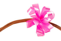 Pink paper bow Stock Photography