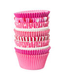 Pink paper cups for cupcake Stock Image