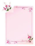 Pink paper with  decorative fuchsia Royalty Free Stock Images