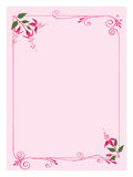 Pink paper with  decorative fuchsia Stock Images