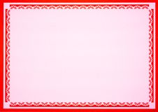 Pink paper with floral patterns stock illustration