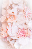 Pink paper flowers. Decorative background from pink paper flowers Royalty Free Stock Photo
