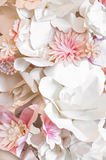 Pink paper flowers. Decorative background from pink paper flowers Stock Images