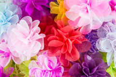 Pink Paper Flowers texture Stock Photography