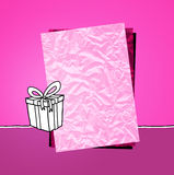 Pink paper & gift Royalty Free Stock Photos