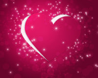 Pink paper heart. Cut off background royalty free illustration