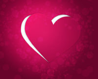 Pink paper heart. Cut off background stock illustration