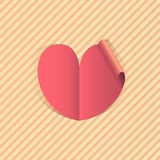 Pink paper heart Royalty Free Stock Image