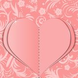 Pink paper heart Royalty Free Stock Photos