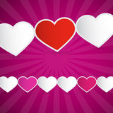 Pink Paper Hearts Background Royalty Free Stock Images