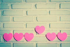 Pink paper hearts Royalty Free Stock Photography