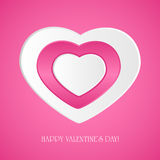 Pink paper hearts Stock Photos