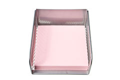 Pink paper in the holder Royalty Free Stock Photography