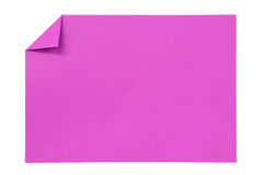 Pink paper isolated on white Stock Photos