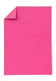 Pink paper isolated on white Stock Photo